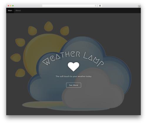 Arcade Basic best WordPress theme - weatherlamp.com