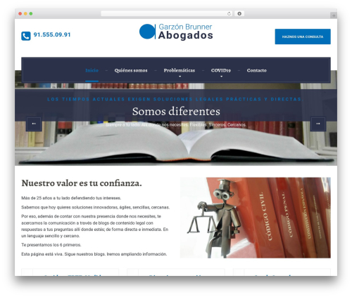 Best WordPress template LegalPress by ProteusThemes - garzonbrunner.com