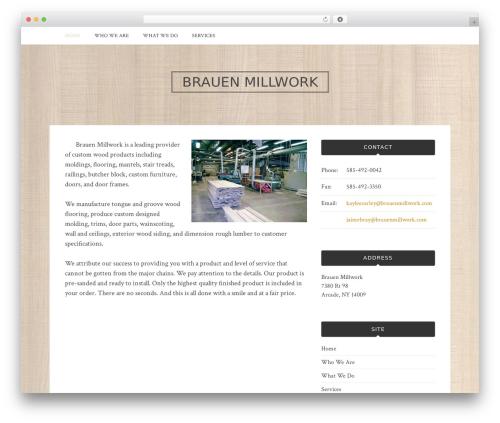 Bulan free website theme - brauenmillwork.com