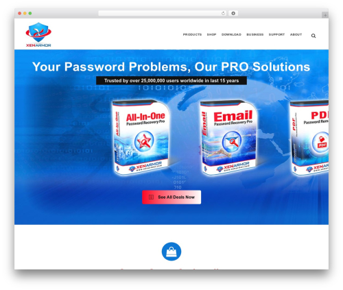EasyWeb WordPress theme design - xenarmor.com
