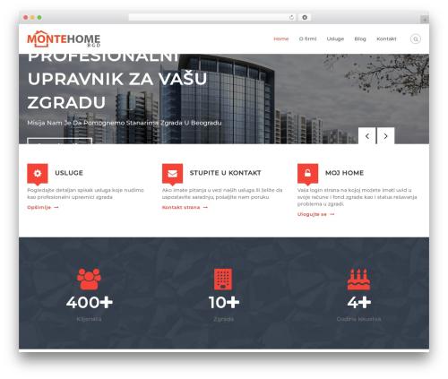 Flash business WordPress theme - montehomebgd.com
