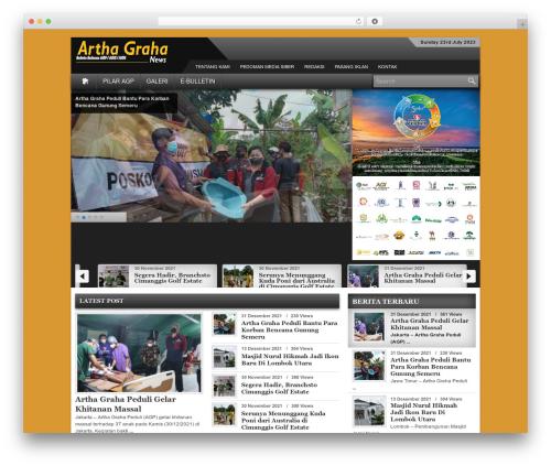 kapro WordPress news theme - arthagrahanews.com