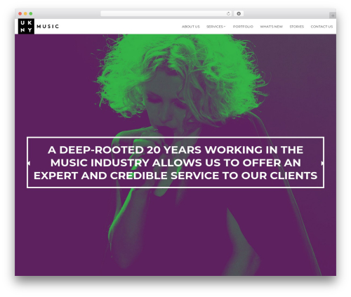 Oxides best WordPress template - uknymusic.com