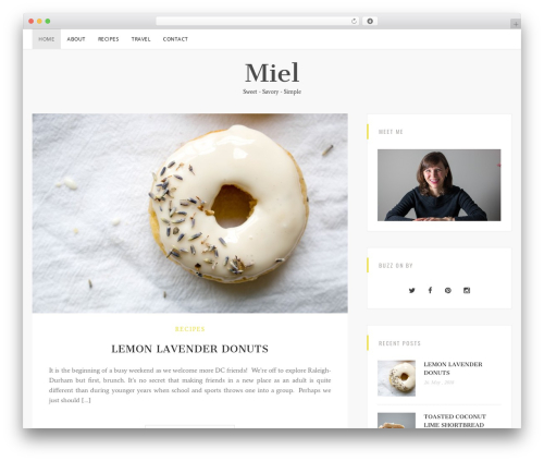 Sanremo WordPress theme download - mielbymel.com