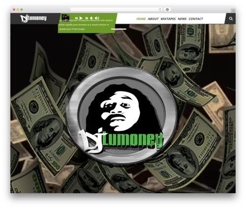 TheArtist WordPress theme - djlumoney.com
