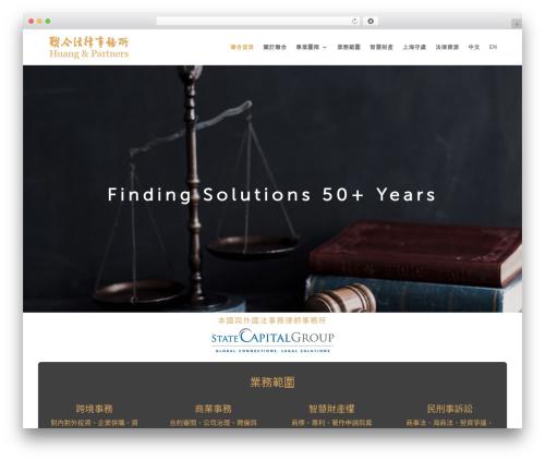 Theme WordPress Divi - huangandpartners.com