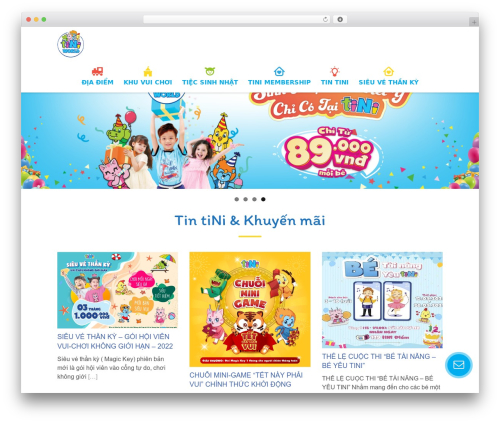 WordPress theme Kiddie - tiniworld.com