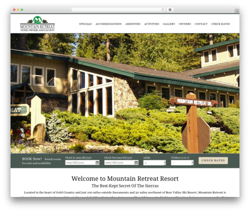 WordPress theme MTR - mtretreat.com