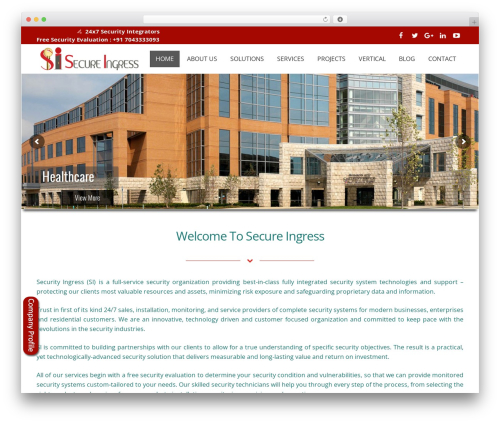 WordPress website template Impreza | Shared By Themes24x7.com - secureingress.com