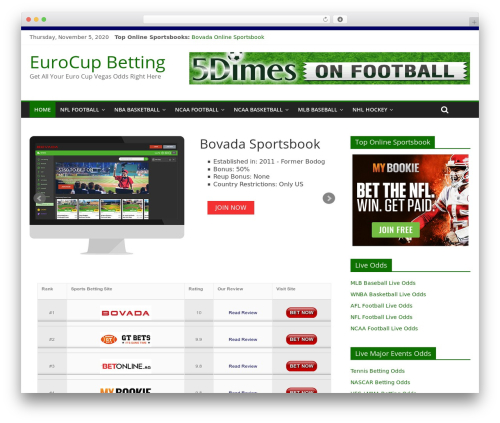 ColorMag WordPress page template - eurocupbetting.com