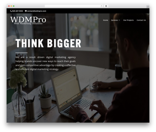Divi WordPress ecommerce template - wdmpro.com