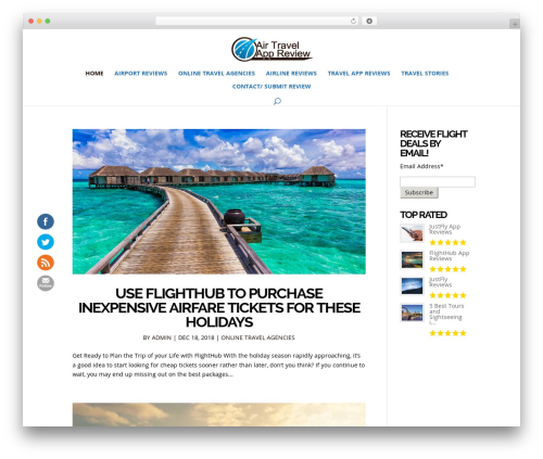 Divi WordPress page template - airtravelappreview.com