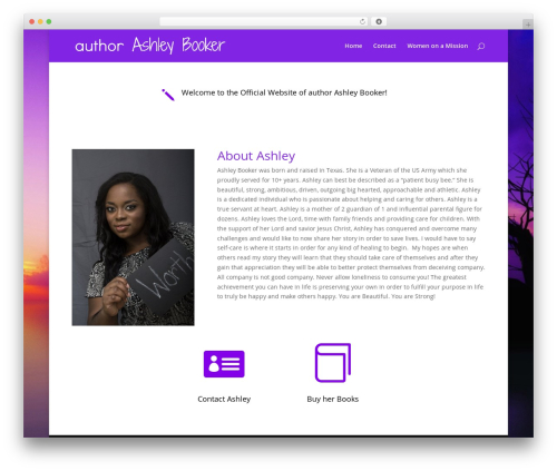 Divi WordPress template - authorashleybooker.com