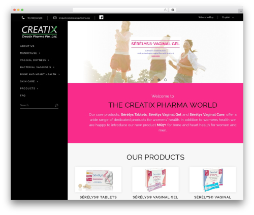 Dorian template WordPress - creatixpharma.com