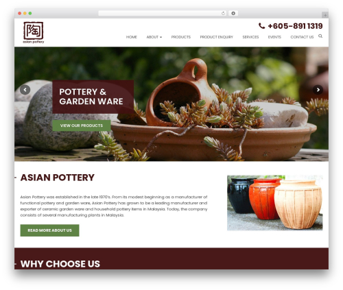 Ninja best WordPress template - asian-pottery.com
