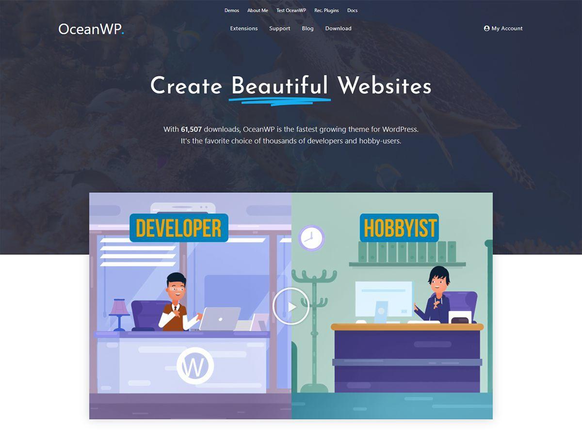 Ocean Child theme WordPress