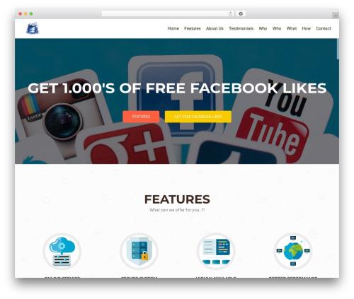 OnePirate WordPress website template - free-likes-followers-subscribers.com