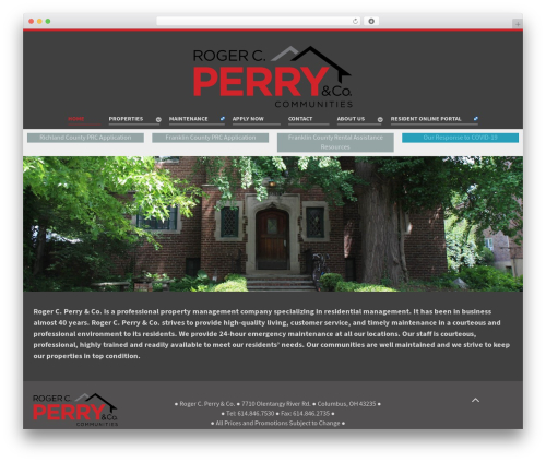 Salient WordPress template for business - rogercperry.com