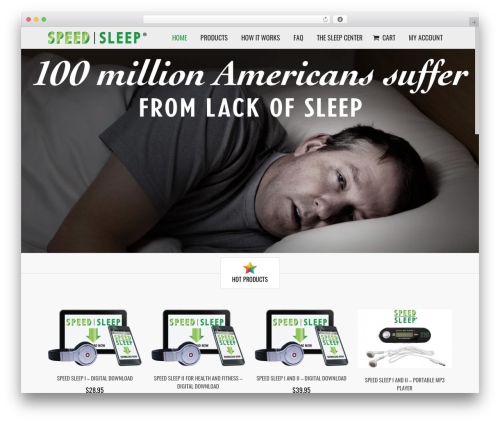 Subway WordPress theme design - speedsleep.com