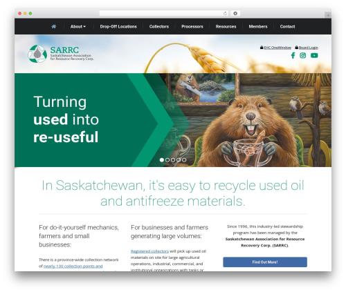 The7 WordPress template - usedoilrecyclingsk.com