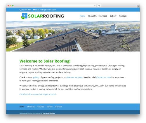 Theme WordPress Divi - solarroofingbc.com