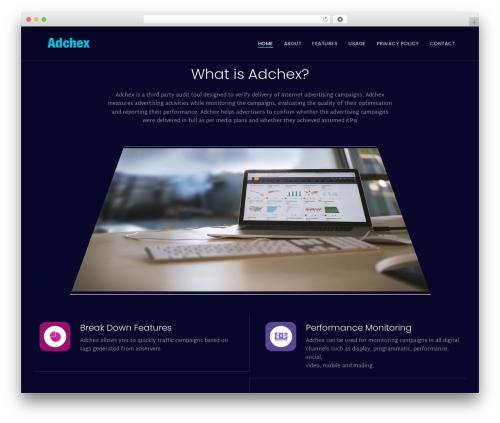 Theme WordPress Quark Progression - adchex.com