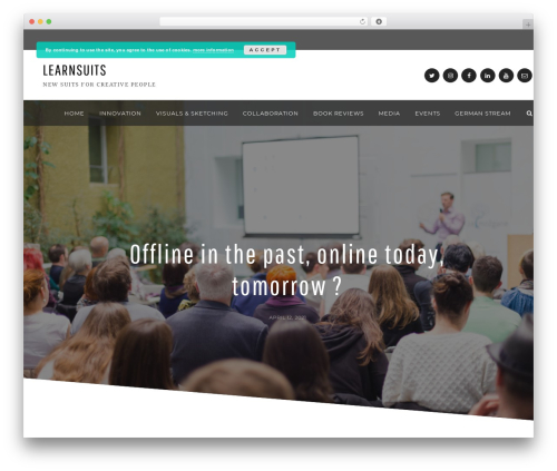 WordPress theme Anemone - learnsuits.com