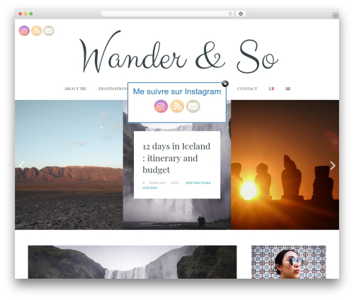 WordPress theme Carbis - wanderandso.com