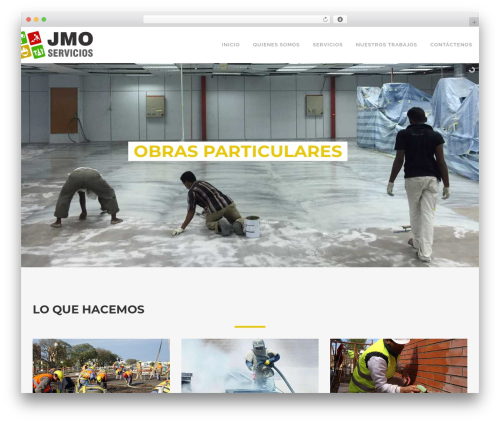 WordPress theme Craftsman Construction - jmoservicios.com