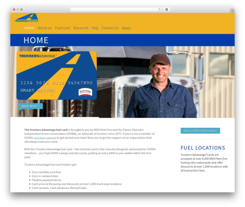 Altitude WordPress template - truckersadvantage.com