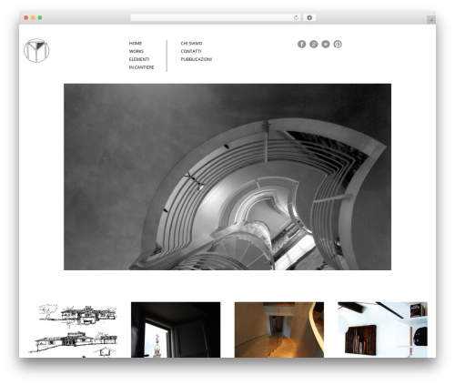Architecture WordPress theme - tonci.com