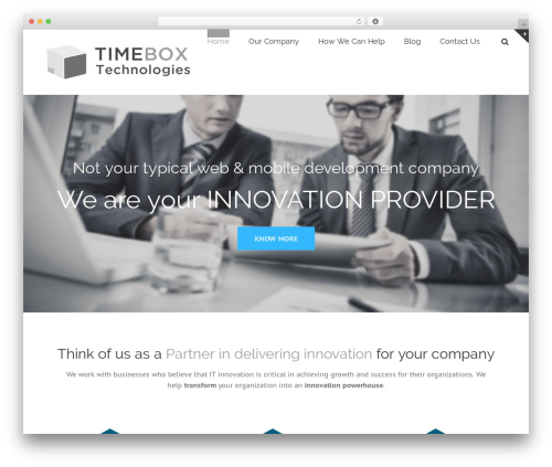 Avada business WordPress theme - timeboxph.com