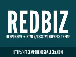 Best WordPress template Redbiz