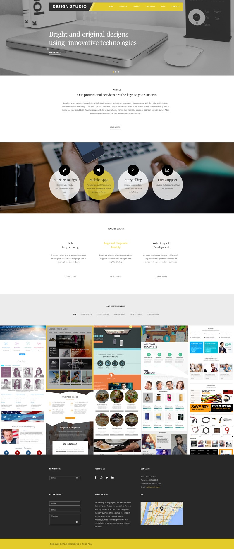 Best WordPress template theme56038