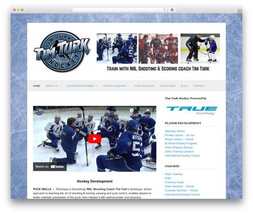 Best WordPress theme Fresh & Clean - timturkhockey.com