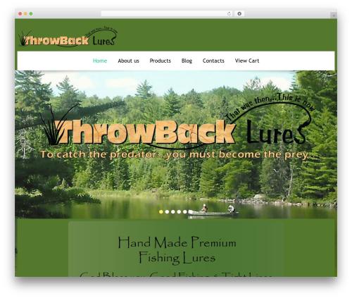 cherry WordPress template - throwback-lures.com