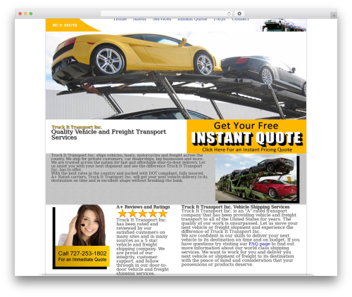 Current WordPress template - truckittransport.com