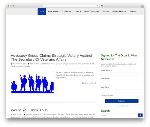 Free WordPress Meks Smart Social Widget plugin - theorganicview.com