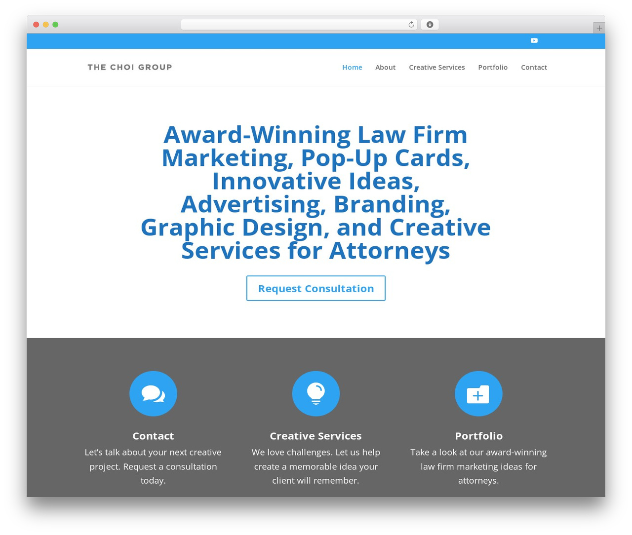 Divi business WordPress theme - thechoigroup.com