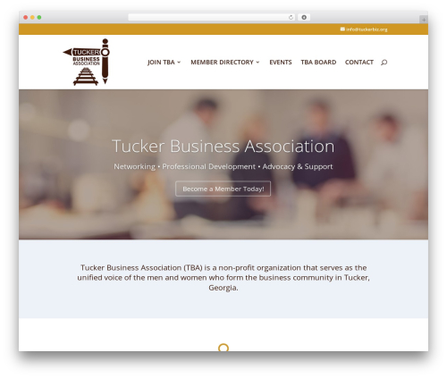 Divi WordPress template for business - tuckerbiz.org