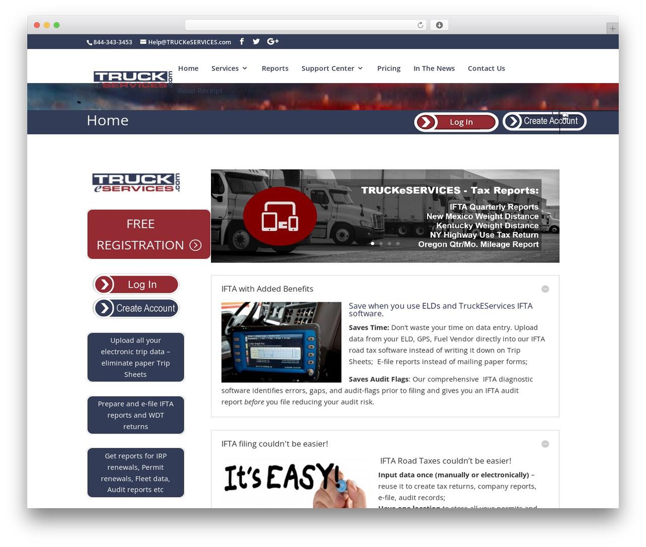 Divi WordPress theme design - truckeservices.com