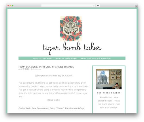 Dreamer WordPress travel theme - tigerbombtales.com