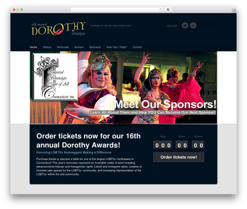 Eventor WordPress page template - thedorothyawards.net