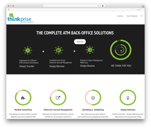 Flexform WordPress theme - thinkprise.com