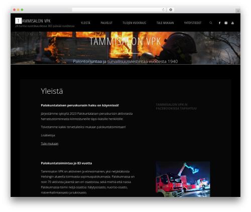 Fluida WordPress template - tammisalonvpk.fi