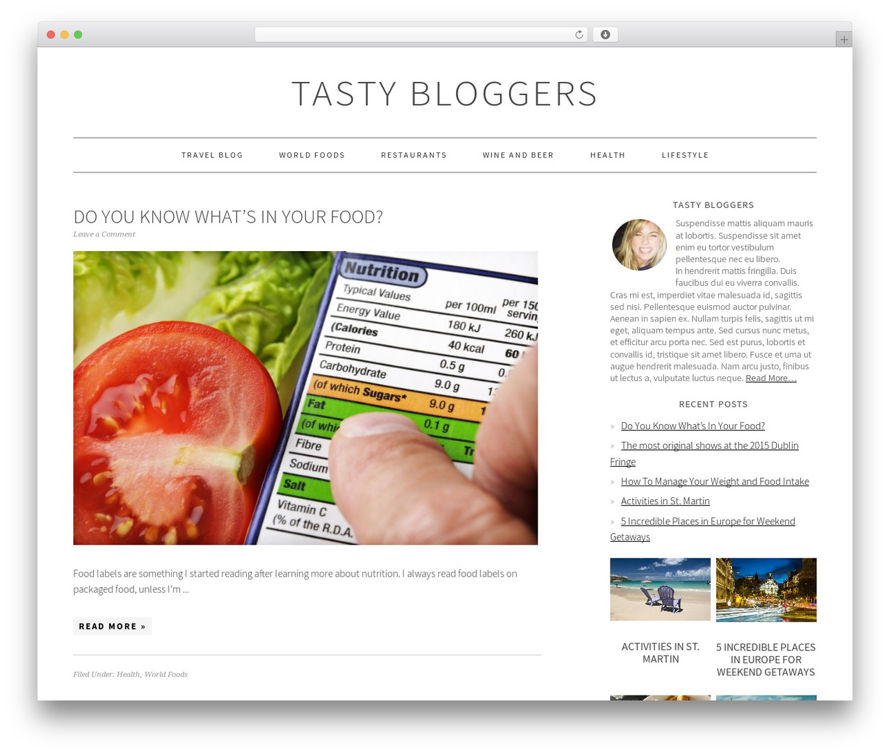 Foodie Pro Theme WordPress blog template - tastybloggers.com