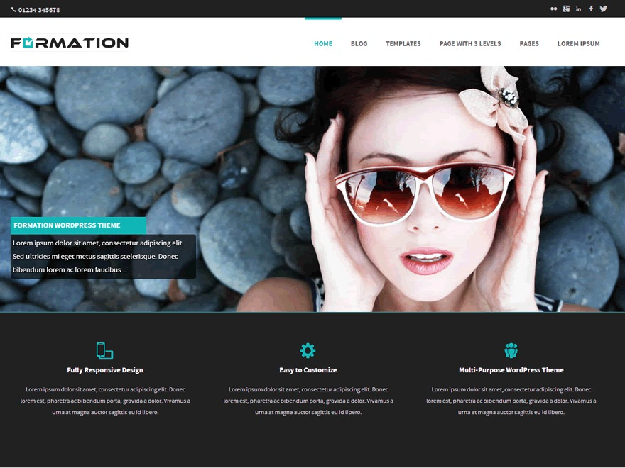 formation-child top WordPress theme