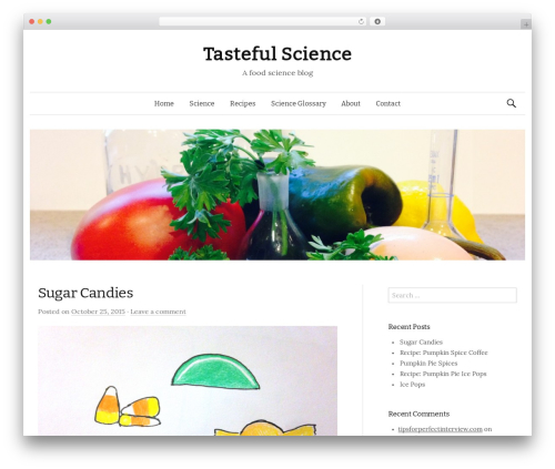 Graphy best free WordPress theme - tastefulscience.com