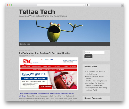 Gridiculous best free WordPress theme - tellae.com