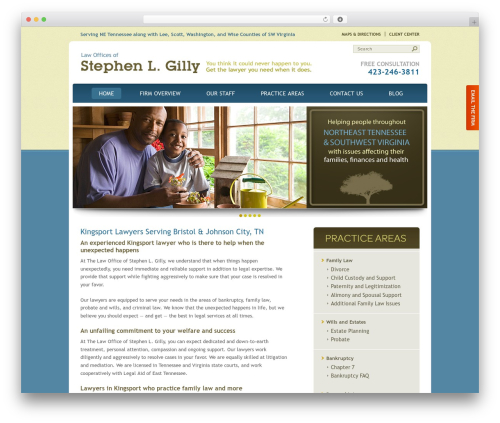 Law Offices of Stephen L. Gilly WordPress template - tnvalaw.com